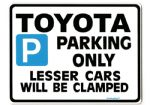 TOYOTA Large ParkingSign for mr-2 celica s rav 4 mr2